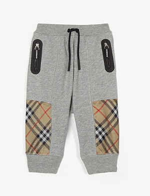 BURBERRY Hamilton check joggers 6 months - 2 years
