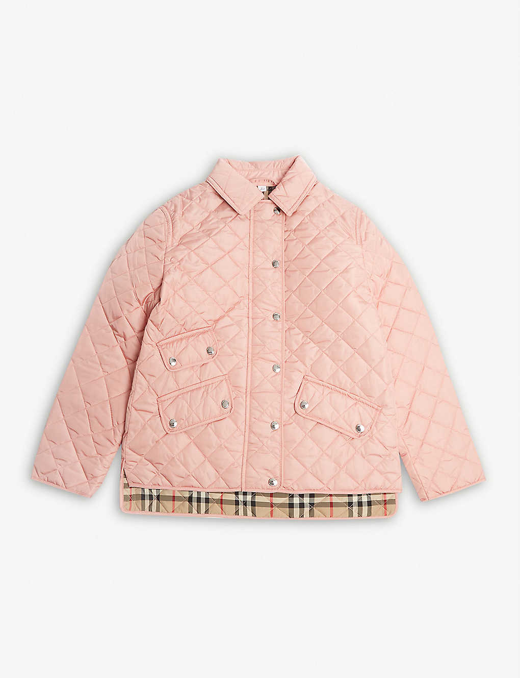 BURBERRY: Brennan diamond quilted jacket 3-14 years