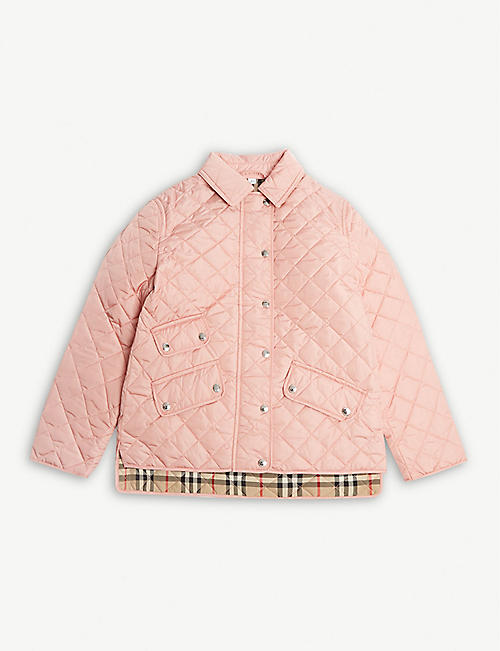 37dbd85f9 BURBERRY Brennan diamond quilted jacket 3-14 years