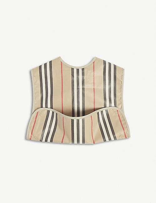 BURBERRY Archive striped cotton bib