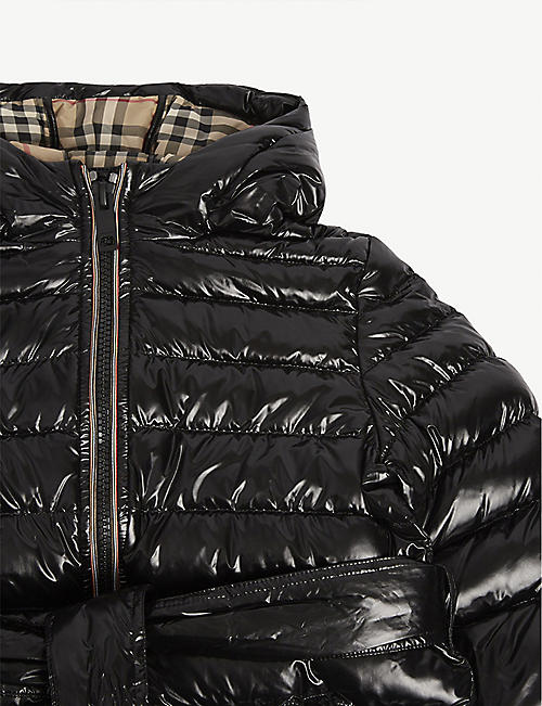 BURBERRY Sharona long line puffer jacket 4-14 years