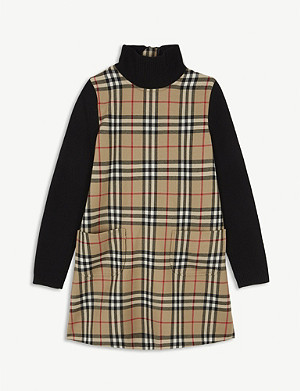 BURBERRY Adeline check A-line dress 4-14 years