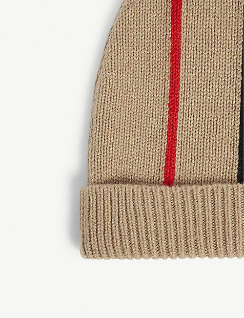 BURBERRY Icon stripe knitted beanie 4-14 years