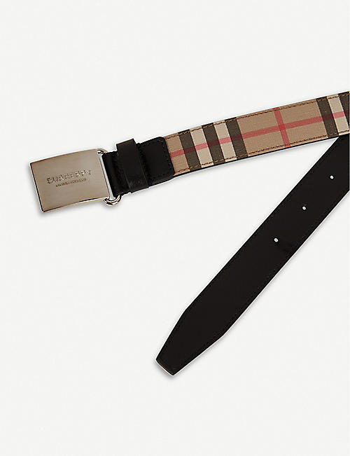 BURBERRY Checked woven belt 2-6 years