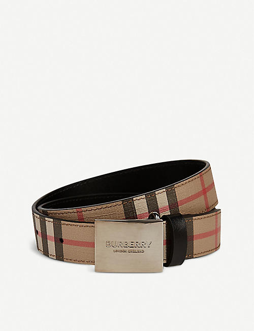 BURBERRY: Checked woven belt 2-6 years