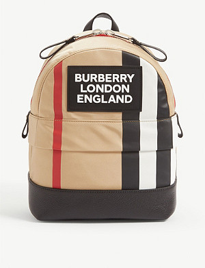 BURBERRY Nico small check backpack