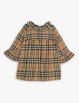 BURBERRY Kitty cotton check dress 6-24 months