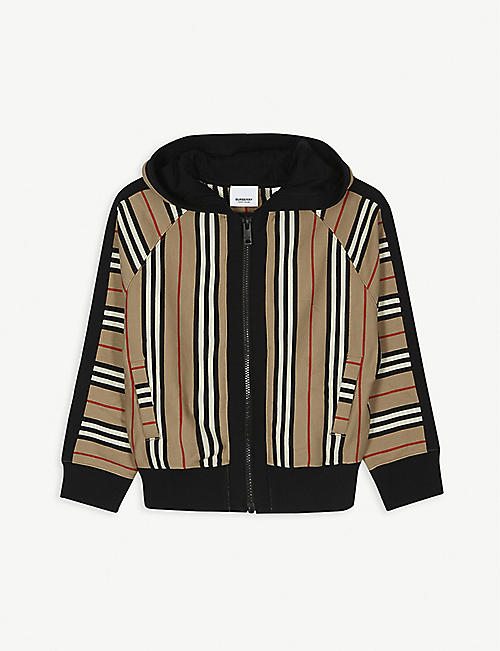 BURBERRY: Aurelie reversible zip up hoody 3-14 years