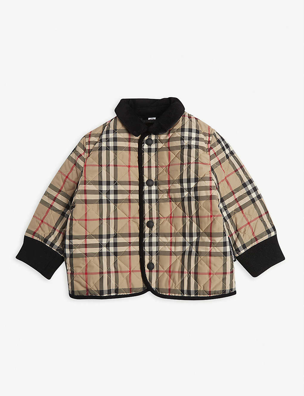BURBERRY: Culford check coat 6-24 months