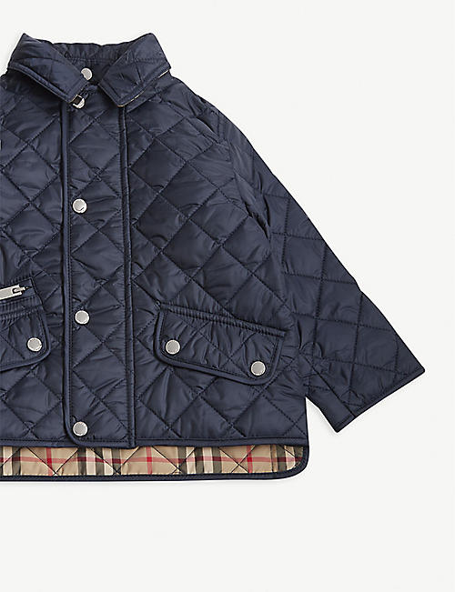 BURBERRY Brennan diamond quilted jacket 6-24 months