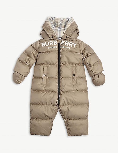 BURBERRY Skylar padded snowsuit 3-18 months