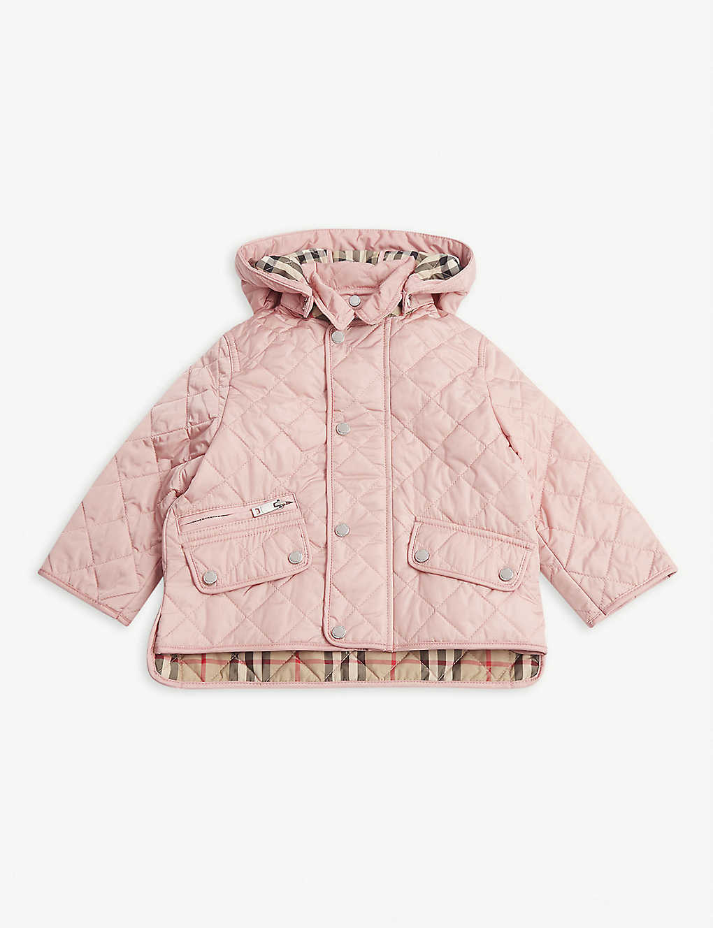 BURBERRY: Quilted nylon coat 6-24 months