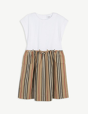 BURBERRY Ramona cotton striped dress 3-14 years