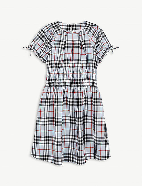 BURBERRY: Joyce checked cotton dress 3-14 years