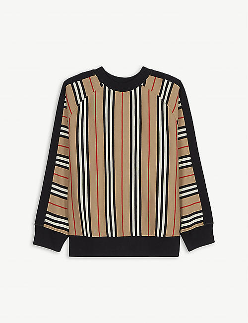 BURBERRY Icon stripe cotton sweatshirt 3-14 years