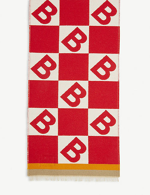BURBERRY Wool-and-silk football scarf