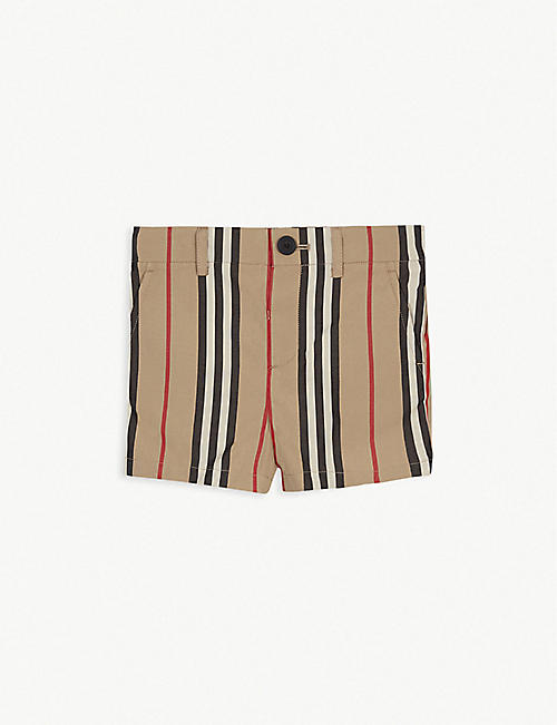 BURBERRY: Nicki cotton icon striped shorts 6-24 months