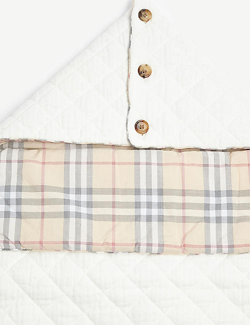 BURBERRY Vintage check cotton baby nest 6-9 months