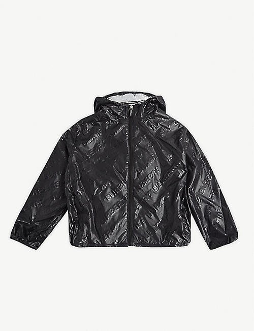 BURBERRY: Lorenzo logo-embossed shell jacket 4-14 years