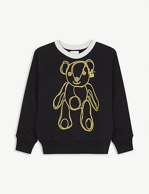BURBERRY Chain bear cotton sweatshirt 3-14 years
