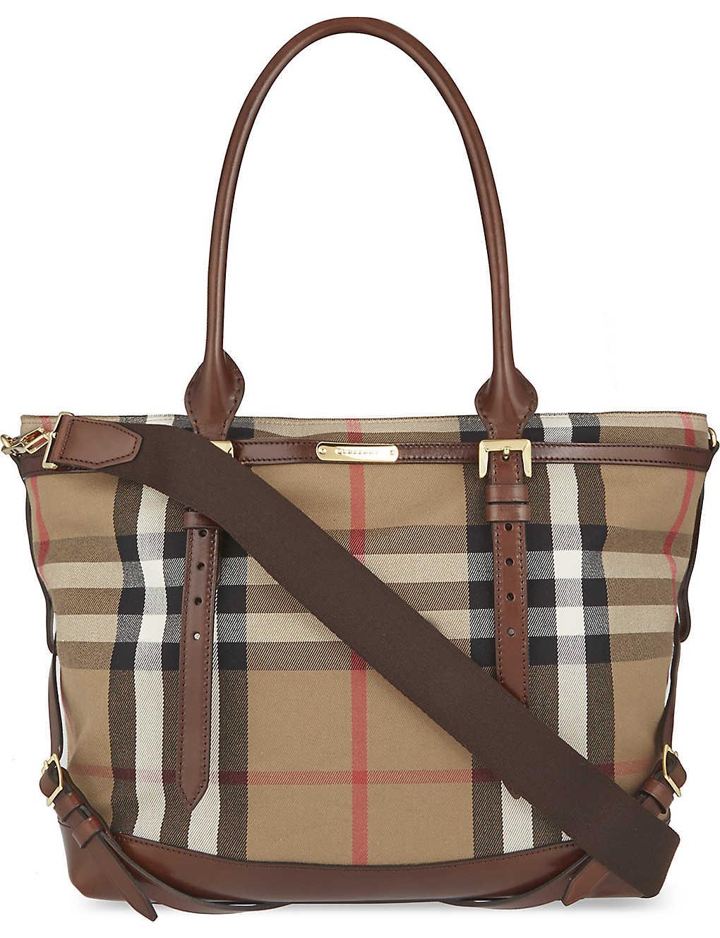 053ece94a944 BURBERRY - Check changing bag | Selfridges.com