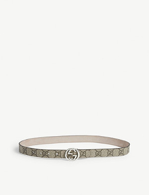GUCCI Logo buckle leather belt