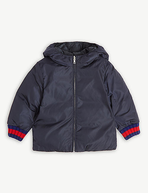 GUCCI Reversible quilted down jacket 12-36 months