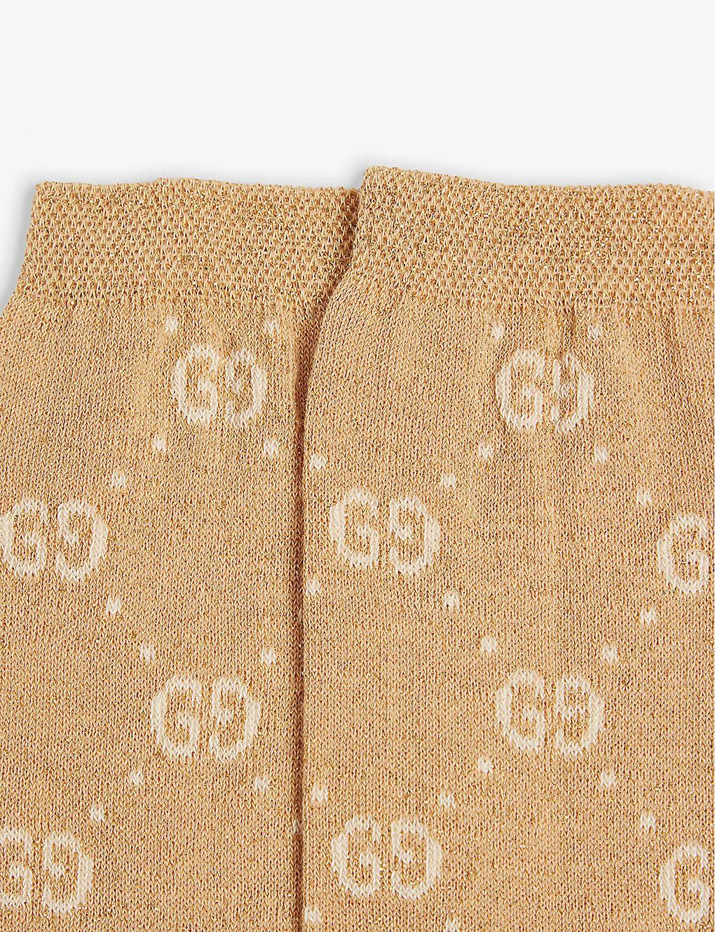 97a90e49c GUCCI - Interlocking GG cotton-blend lurex socks 6-12 years ...