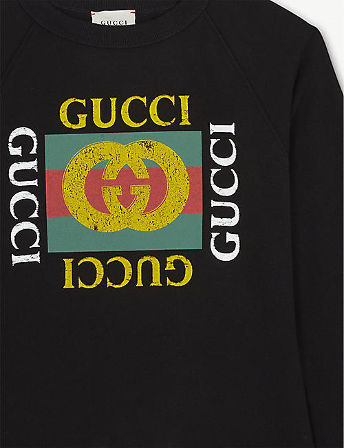 GUCCI GG logo cotton sweatshirt 4-10 years