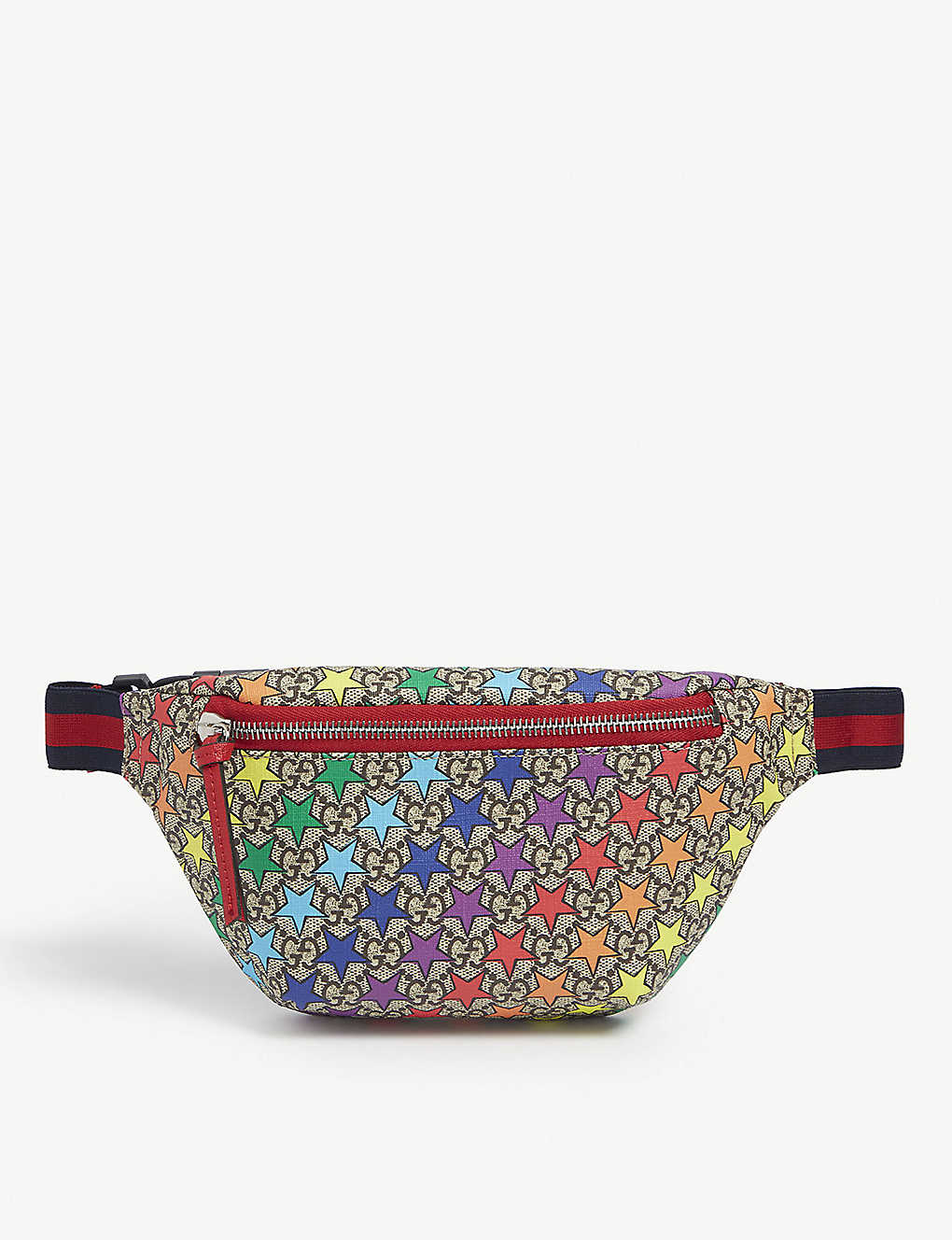 fd3a586a7147 GUCCI - GG rainbow star canvas belt bag | Selfridges.com