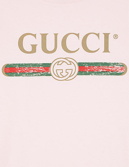 GUCCI Vintage logo cotton T-shirt 4-10 years