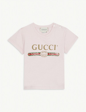GUCCI Fake logo cotton T-shirt 3-36 months