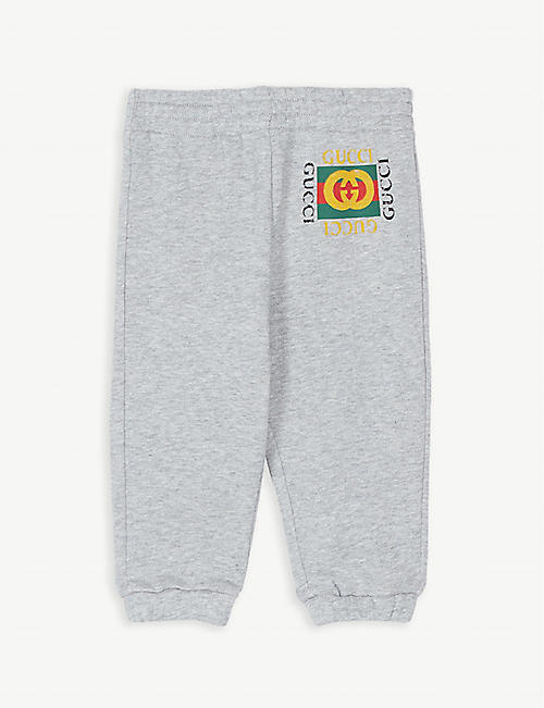 6c02268a7b2 GUCCI Logo cotton joggers 9-36 months