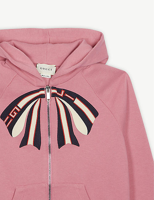 GUCCI Bow print cotton hoody 4-12 years