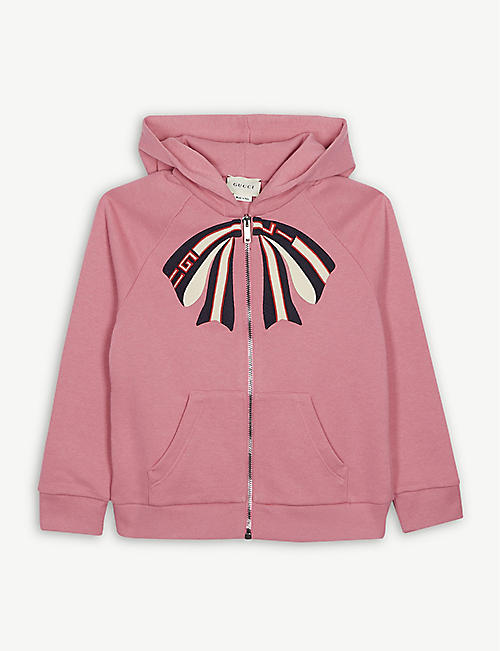 e1b6e0cc55e3 GUCCI Bow print cotton hoody 4-12 years