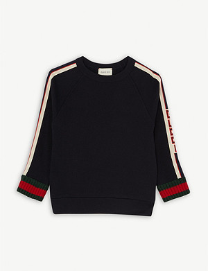 GUCCI Web striped cotton sweatshirt 4-12 years