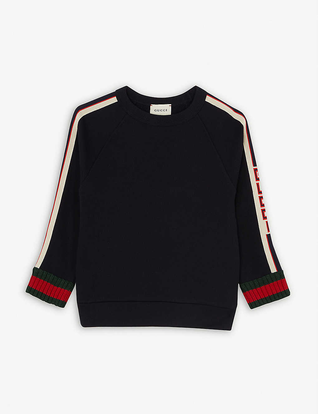 GUCCI: Web striped cotton sweatshirt 4-12 years