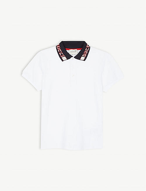 66b91763308 GUCCI Branded collar polo shirt 4-12 years