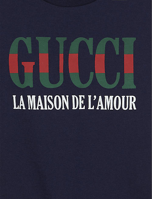GUCCI Maison logo cotton T-shirt 3-36 months