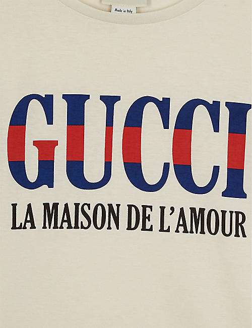 GUCCI Maison logo cotton T-shirt 4-10 years