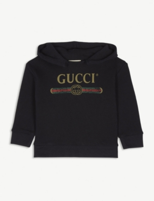 GUCCI Logo cotton hoody 9-12 months