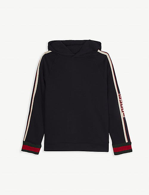 GUCCI Web striped cotton hoody 4-12 years 32a1f2c7961d