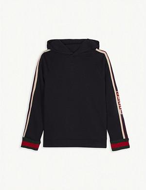 aa5a701b537 GUCCI - Logo tape cotton sweatshirt 4-12 years