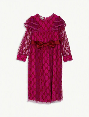 GUCCI GG web tulle dress 8-12 years
