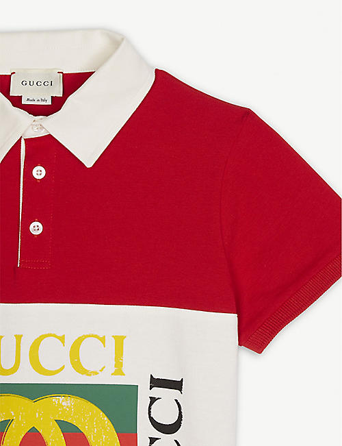 9899ee1d0cc5 GUCCI Four logo cotton rugby top 4-10 years