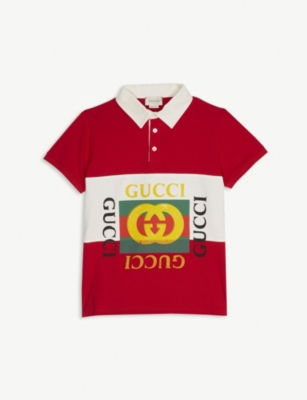 GUCCI Four logo cotton rugby top 4-10 years