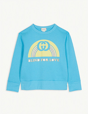 GUCCI Blind for love cotton sweatshirt 4-12 years