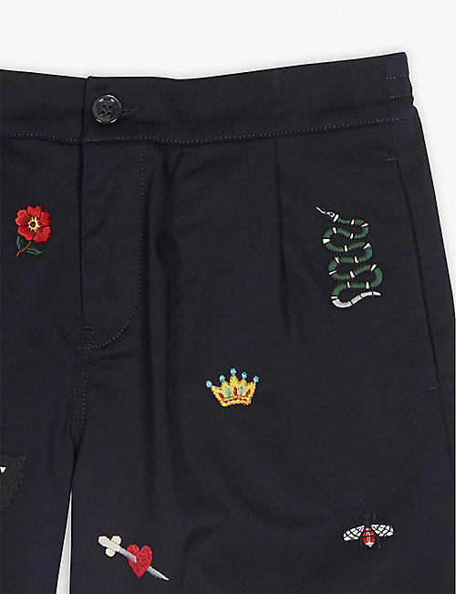 GUCCI Appliqué cotton shorts 8-12 years