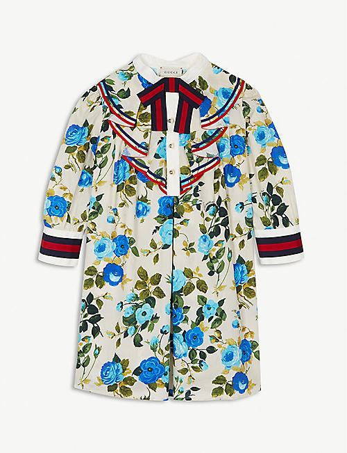GUCCI Floral ruffle dress 4-12 years