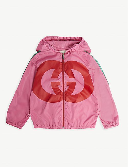3b78970ad5c GUCCI GG logo windbreaker hooded jacket 9-36 months